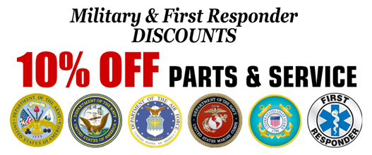 10% Discount for Military and First Responders